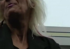 IMWF- Nasty White French Granny fucks in the air black indian guy bbc