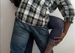 Office Intercourse - Horny Indian Shemale Slut Manusha exposing on livecam with a aide